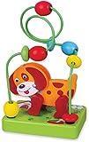 VIGA VIGA-59662 NCT 1607-Juguete de Madera con el pequeño Perro, para Entrenar Las Habilidades motoras, Multicolor (59662)