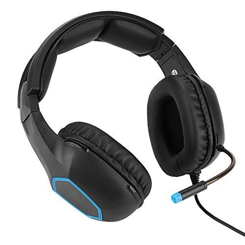 Tangxi Casque de Jeu, Casque de Jeu Filaire à réduction de Bruit SA818, Microphone Audio omnidirectionnel intégré pour PS4 pour Xbox One pour Ordinateur Portable, Noir