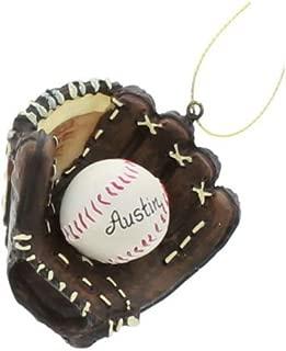 Kurt Alder Baseball and Mitt Ornament