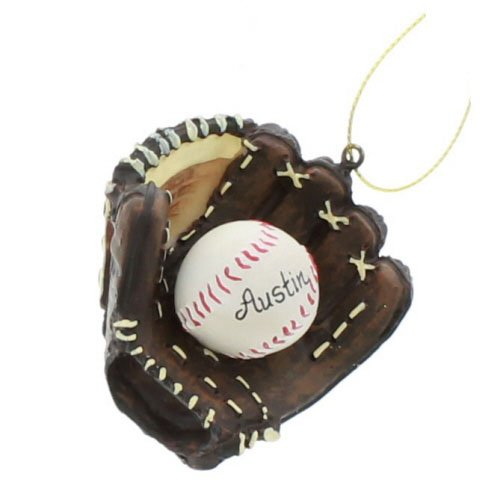 Kurt Alder Baseball and Mitt Ornament