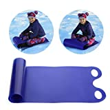 Stecto Snow Sledge, Foldable Flexible Flying Carpet Sled with 2 Handles, Lightweight Fast Skiing Pad Sled,...