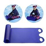 Stecto Trineo de Nieve, Trineo de esquí Flexible Plegable con 2 Asas, Trineo de plástico Ligero, Trineo de Nieve de plástico Duradero para Adultos, niños, niños