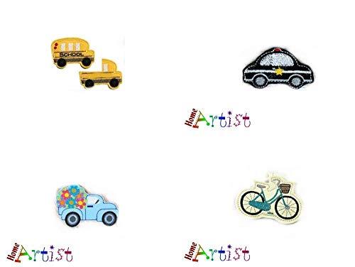 Fahrzeuge Transport Haarspange für Kinder Mädchen und Jungs - zum auswählen Polizeiauto Polizei LKW Lastwagen Fahrrad Schulbus Bus