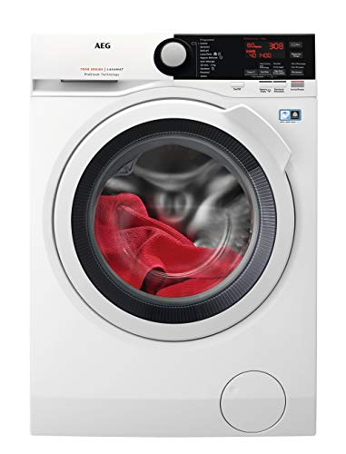 AEG L7FBE841 Independiente Carga frontal 8kg 1400RPM A+++-30% Blanco - Lavadora (Independiente, Carga frontal, Blanco, Izquierda, 8 kg, 1400 RPM)