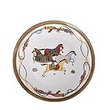 WYGOAKG 8 'Shallow Plate War Horse Bone China Vajilla Set Royal Feast Porcelana Plato Western Plato Decoración del Hogar Boda
