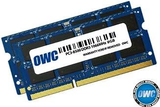 OWC 16GB (2 x 8GB) PC8500 DDR3 Módulo de Memoria SO-DIMM no ECC 1066 MHz 204 Pines (OWC8566DDR3S16P), para 2010 MacBook Pro, MacBook, Mac Mini e 2009 iMac
