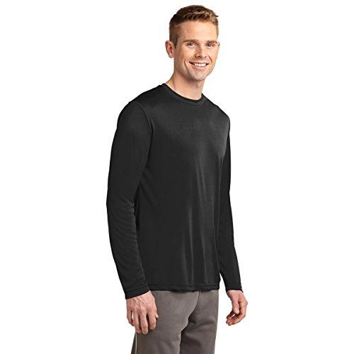 Dri-Tek Big & Tall Long Sleeve Moisture Wicking Athletic T-Shirt, BLACK, 2XLT