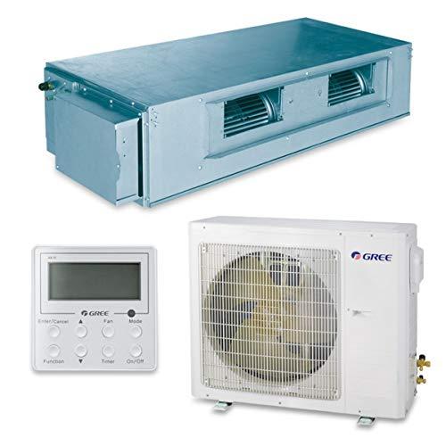 Gree 30,000 BTU 16 SEER Concealed Duct Ductless Mini Split Air Conditioner Heat Pump 208/230V