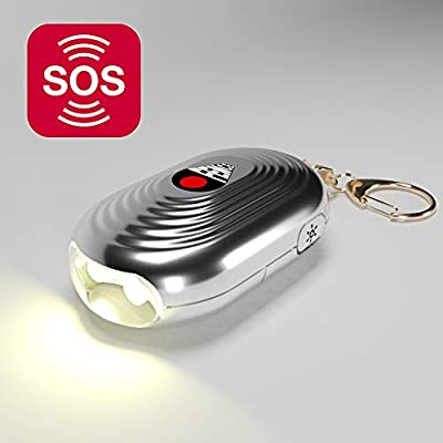 Alarm Keychain for Women - Siren Song Self Security 2 LED Device for Personal Protection