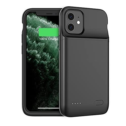 Funda de batería para iPhone 13 Mini, 4700mAh Estuche de Carga de batería extendido de 5.4 Pulgadas Estuche para Cargador de batería con Audio para iPhone 12/13 Mini, Negro (iphone12/13 Mini)