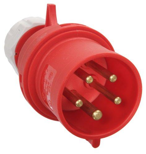 as - Schwabe 60422 CEE-Stecker, 32 A, 5-polig, 6h, 400 V Starkstrom Stecker