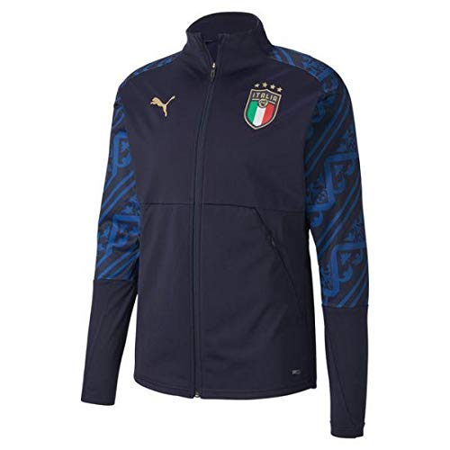 PUMA Herren FIGC Stadium Away Jacket Trainingsjacke, Peacoat-Team Power Blue, L
