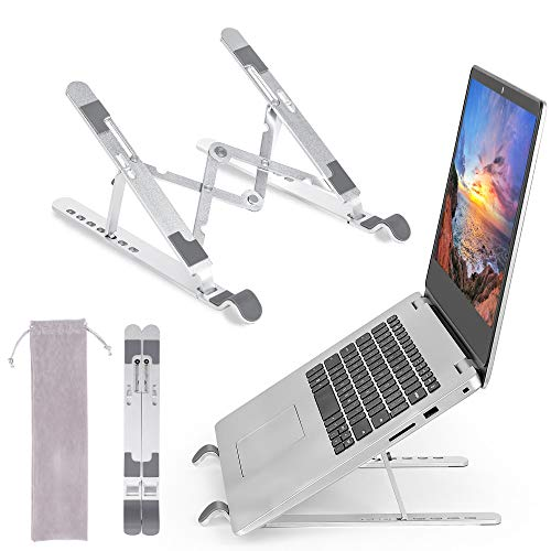 m zimoon Soporte Portátil Plegable, (1.77-10.24'') 7 Ángulos Ajustables Aleación de Aluminio Laptop Stand, Soporte Ventilado Ordenador Portátil para Laptops/Teléfonos Móviles/Tabletas/Kindles/Libros