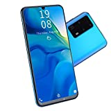 Dilwe1 P40 Pro 7.2 Inch Smartphone, 1 + 16GB Waterdrop Screen Smartphone, Face Unlock, Dual Cards, Dual Standby Smartphone, 2MP + 5MP Dual Camera(Azul)