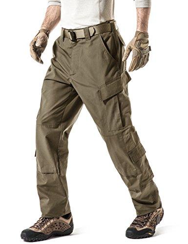 CQR Pantalones tácticos militares para hombre, pantalones de combate, BDU/ACU, pantalones cargo impermeables, pantalones de trabajo, senderismo, ropa de exterior, Uap02 1pack - Coyote, extra-large