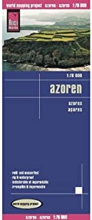 Azores 1:70,000 Hiking & Cycling Map, waterproof, GPS-compatible, 2010 edition, REISE