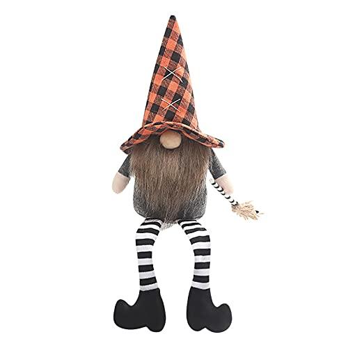 Briskorry Muñecas sin cara para Halloween, para casa, salón, dormitorio, decoración, barba larga, juguete para muñecas, hecho a mano, accesorio de fiesta