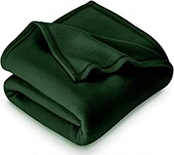 Home Stylish Soft Warm Fleece Blanket Throw Microfiber Plush Blanket for Bed, (60x90 Inches Green)