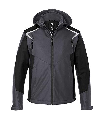 KÜBLER BODYFORCE Winter Softshell Jacke, Farbe: Anthrazit/Schwarz, Größe: L