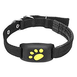 KANGQIAO GPS Pet Tracker, GPS Tracker, Waterproof Collar for Cats and Dogs, Remote Pet Tracker, Activity Monitor, Anti-Lost Security Alarm, Cute Alarm Sensor