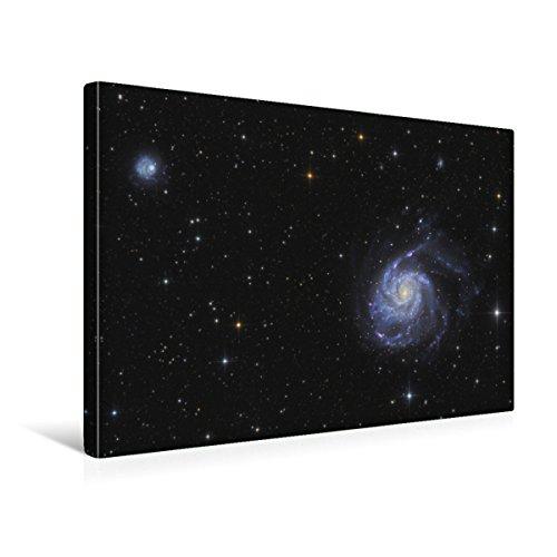 Premium Textil-Leinwand 45 x 30 cm Quer-Format Feuerradgalaxie im Sternbild Jagdhunde | Wandbild, HD-Bild auf Keilrahmen, Fertigbild auf hochwertigem Vlies, Leinwanddruck von Rochus Hess