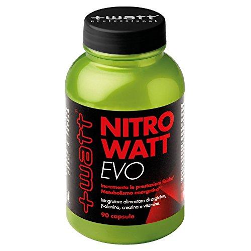 +Watt Nitrowatt EVO, Integratore Alimentare di arginina, 90 Capsule