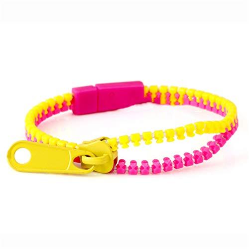 Folewr Pulseras con cremallera, amistad, pulseras de cremallera de 7,5 pulgadas, juguetes sensoriales a granel set 12 unidades