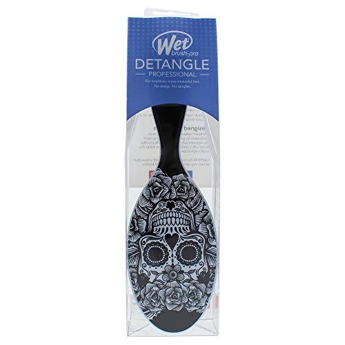 Wet Brush Pro Detangle Hair Brush, Sugar Skulls Black & White
