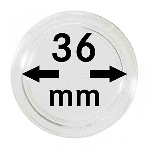 LINDNER Das Original Capsules Monnaies Ø intérieur 36 mm, Paquet de 100