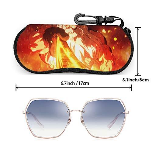 AIMHOUSE Dr.Stone - Funda para gafas, funda para gafas de sol, funda de goma con cremallera