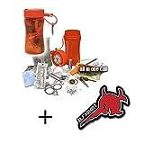 #15785 - Set de supervivencia al aire libre con caja de emergencia, taza impermeable con lámpara de LED solar integrada y mucho más