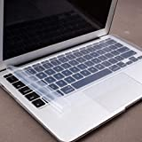 Blue World Universal Silicone Keyboard Protector Skin Cover | Dust Protector for 15.6-Inch Laptop (Clear/Transparent)