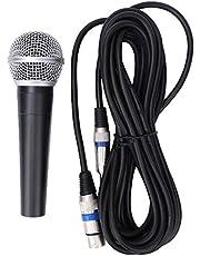 HandhåLlen Dynamisk Mikrofon, Professionell Zinklegering Med 5 Meter Anslutningskabel Perfekt för Karaoke, SåNg, Fest, BröLlop, Tal
