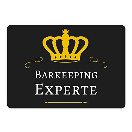 Multifanshop Mousepad Barkeeping Experte schwarz