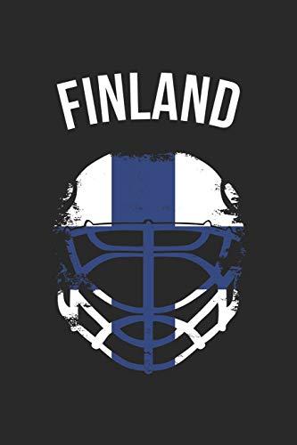 Finland Hockey Notebook - Finland Flag Hockey Helmet - Gift for Hockey Player - Hockey Diary: Medium College-Ruled Journey Diary, 110 page, Lined, 6x9 (15.2 x 22.9 cm)