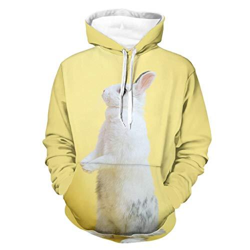 Herren Begonia Rabbit Sweatshirts Vintage - Laufen Jacke White l