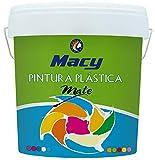Pintura Plastica Mate Lavable Color Blanco para Interior y Exterior -8 LTS o 13 KG -. MATE REF-100 MACY