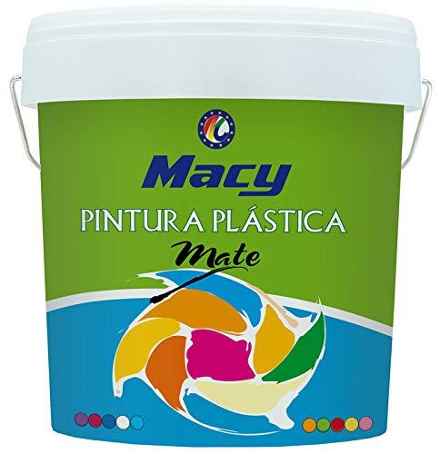 Pintura Plastica Mate Lavable Color Blanco para Interior y Exterior -8 LTS o 13 KG -. MATE REF-100 MACY ENVIO GRATIS 24/48 H (DIAS LABORABLES)