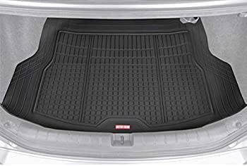 Motor Trend Premium FlexTough All-Protection Cargo Mat Liner – w/Traction Grips & Fresh Design Heavy Duty Trimmable Trunk Liner for Car Truck SUV Black  DB220-B2