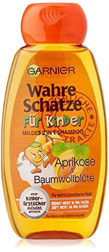 Garnier 2in1 Wahre Schätze Mildes Shampoo, für Kinder, reinigt besonders schonend, brennt nicht in den Augen, ohne Parabene und Silikone, 1er Pack (1 x 250 ml)
