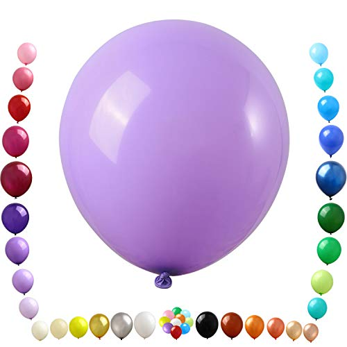 Party Ulyja Lavender Balloons Kids' Party 50 Pack Bulk 12 Inch Natural Thick Latex Balloons Helium Quality for Birthday Wedding Baby Bridal Shower Themed Arch's DIY Decorations Supplies