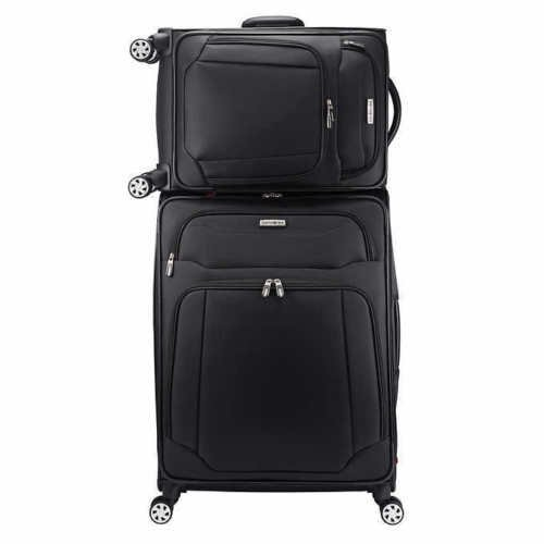 Samsonite StackIt 2-Piece Softside Spinner Luggage Set (Black)
