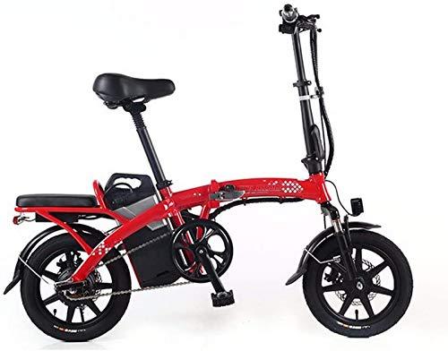 GJJSZ Cinta de Correr Plegable,Triciclo de Movilidad eléctrica,Scooter eléctrico para Adultos,Bicicleta eléctrica Plegable y portátil,Motor máximo de 350 W,con luz LED y Pantalla