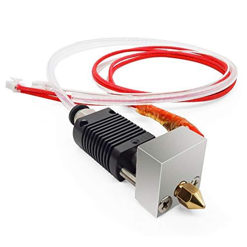 LICHIFIT Kit de cabeza de extrusión de 24 V con varilla de calefacción para Anet ET4 1.75 mm 3D impresora tubo transparente piezas accesorios