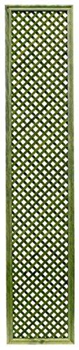 Celosía De Madera Tratada para Decoración De Terrazas, Jardines y Exteriores - Verde (228x46 cm)