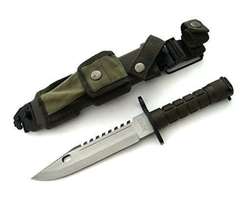 KOSxBO® U.S. Army M-9 Typ-3B - Multipurpose M9 Militär Bajonett mit extrem Sägerücken - taktisches Kampfmesser - Einsatzmesser 39 cm - Survival Rambo Messer mit Scheide