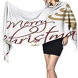 Bufanda, chal y envoltura de Feliz Navidad larga manta bufanda para mujer, moda borla chales envolturas bufanda, suave sensación de cachemira cálida invierno