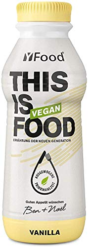 YFood Vegan Vanilla | Ready to Drink Meal | Lactose and Gluten-Free Meal Replacement | 26 g of Protein, 26 Vitamins and Minerals | Plant-Based Protein-Shake | 12 x 500 ml (1 kcal/ml)