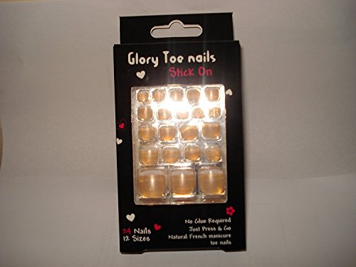 Glory Natuur French manicure nagels, donkerbeige