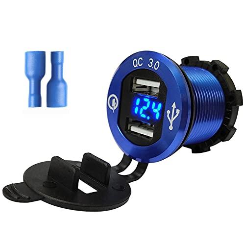 Yuwe Cargador de coche para coche Adaptador de carga rápida USB dual en coche Quick Charge 3.0 - Mini enchufe de 12v para teléfono para XS/XR/Max / 7/8 / Plus
